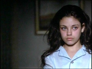 Mila Kunis as a young Gia.